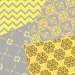 Yellow and Gray Digital Scrapbookin..