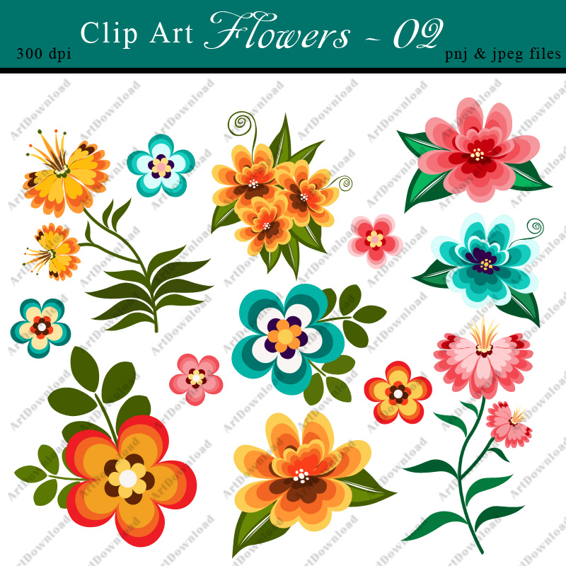 image relating to Flowers Printable known as Electronic Clip Artwork Bouquets - Clip Artwork Bouquets, Electronic Paper Bouquets, Printable Bouquets For Individual Industrial Hire