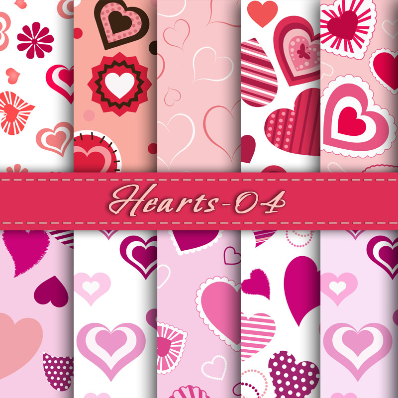 Digital Scrapbook Papers Digital Valentine Paper Valentine Love Heart Card Making Clip Art Hearts